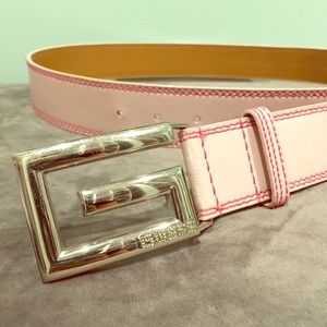 Guess Pink Leather Belt